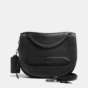 Coach pebbled leather shadow crossbody bag